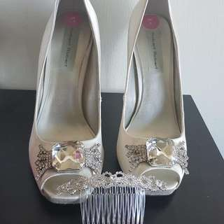 Wedding Shoes And Hair Accessories