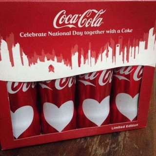 Coca Cola UAE national day aluminum bottle heart skyline