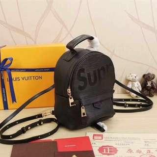 SUPREME X LOUIS VUITTON Palm Springs Backpack Mini - Black Epi Leather