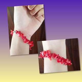 🦋Beaded Red Bracelet