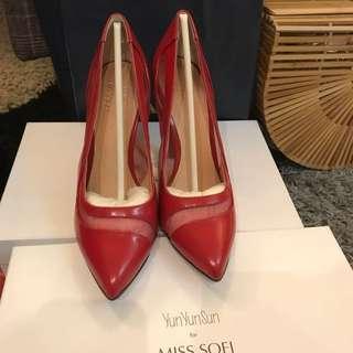 Miss Sofi YunYunSun 紅色尖頭高跟鞋 孫芸芸