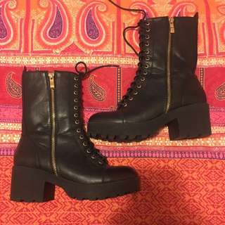 Black Boots Size 36