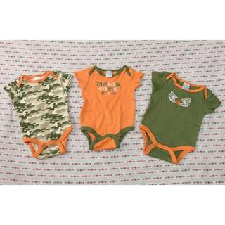 Baby Gears onesies (0-3 mos)/ 300 for 3