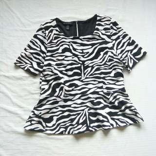 Office Wear Zebra Plum Blouse