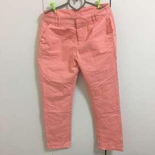 Pazzo粉紅長褲L
