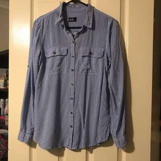 Blue And White Shirt