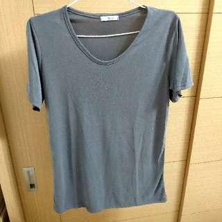 全新正韓灰色素t T-shirt
