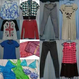 Bundle: 15-in-1 Pants, Dresses, Blouses, Bikinis, Handkerchiefs, Polo Shirt (TAKE ALL)