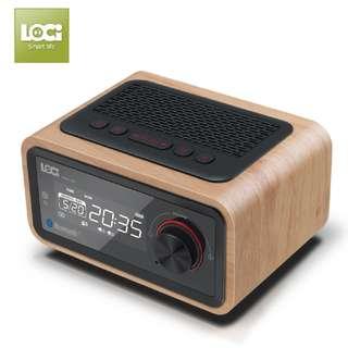 *New* 3 in 1 Wireless Bluetooth Speaker with Digital Clock, FM, Subwoofer