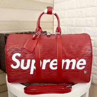 lv supreme gym bag