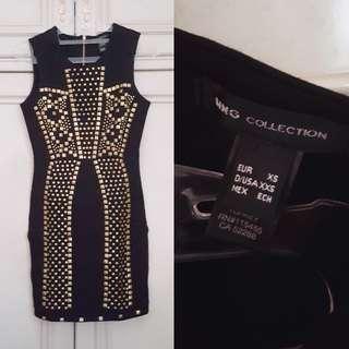 (NEW) Mango Studded Bodycon Dress // Pakaian Wanita