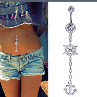 Anchor belly button rings
