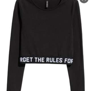 H&M DIVIDED Forget The Rules Crop Top