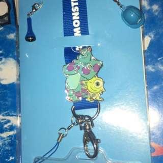香港迪士尼樂園 怪獸公司 徽章掛繩套裝 Pins Lanyard Set