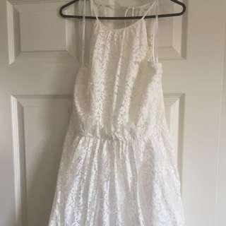 Forever New White Lace Skater Dress