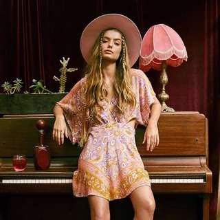 Spell & The Gypsy Collective Lolita Cutout Mini Dress Lover Sz L