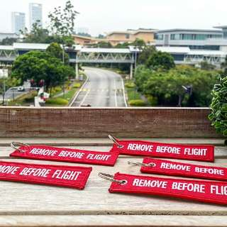 Embroidery Keychain Remove Before Flight