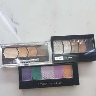 Eyeshadow Set Of 3: Maybelline, Fasio JAPAN, Revlon