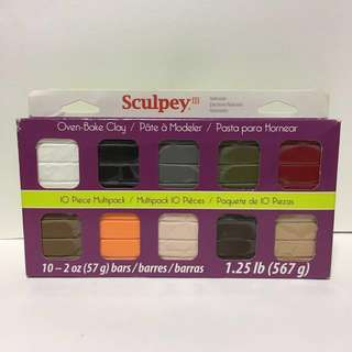 Sculpey III 10 piece Multipack (Naturals) Oven-bake Polymer Clay