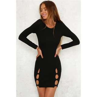 Brand New Black Criss Cross Dress