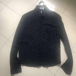 {REDUCED} BERSHKA POLKADOT SHIRT