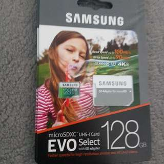 Samsung Micro SD Cards 128gb U3