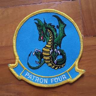 Badge Patron Squadron Four Skinny Dragon