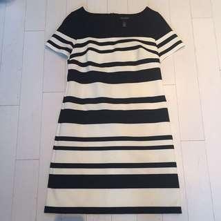 White House Black Market Striped Dress (sz 2)