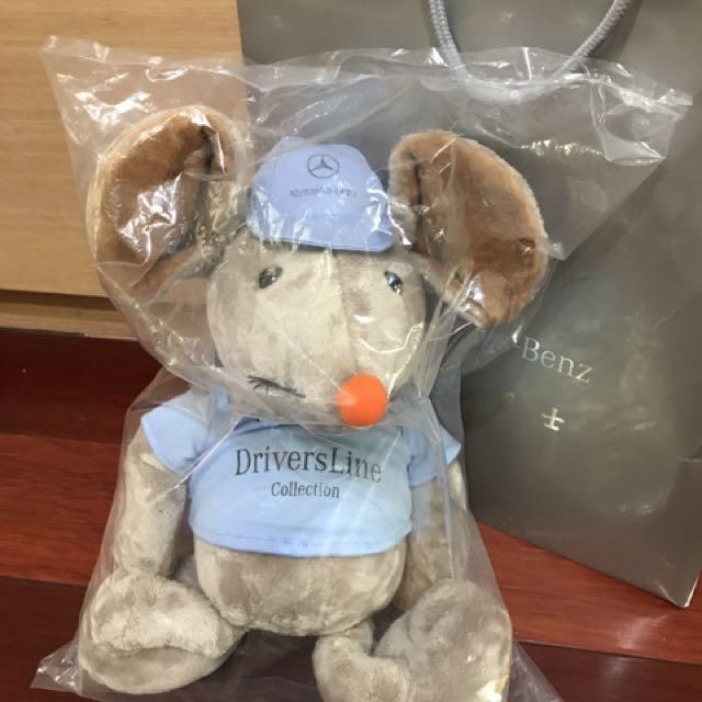 全新全球限量200個的M賓士鼠公仔娃娃購自中華賓士南港38cm