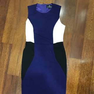 Offer doublewoot contrast bodycon dress