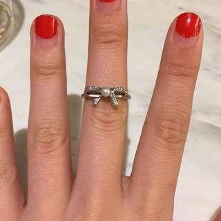 Pandora Bow Pearl Ring