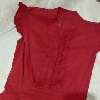 Red Chinese Style Dress