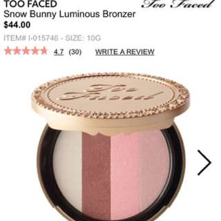 Two faced snow bunny bronzer
