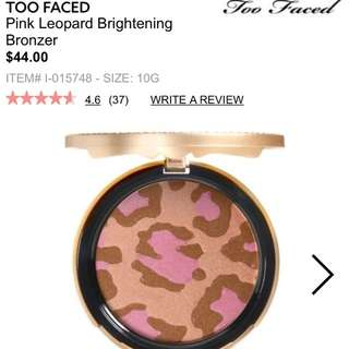 Two faced pink Leopard bronzer