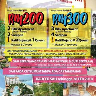 Voucher Glory Beach Resort