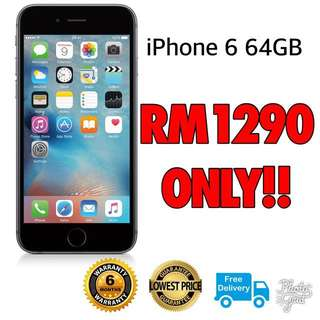 Iphone 6 64gb (Refurbished) New Original Set #FreePostage