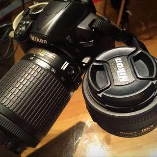 Nikon D3100 Base, Kit Lens +2 Lenses