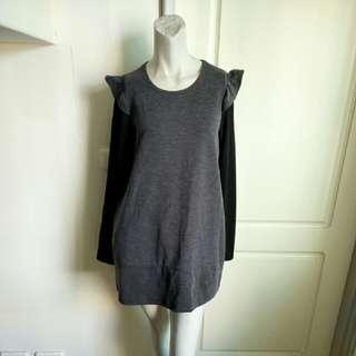 【100出清PC免運】MIT灰黑色長袖傘狀洋裝