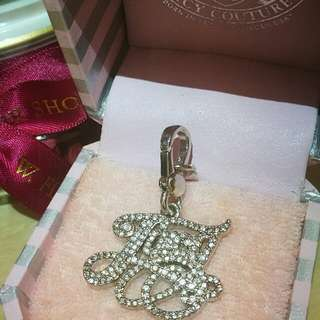 Juicy Couture Silver Crystal Charm for Necklace Bracelet #Pandora