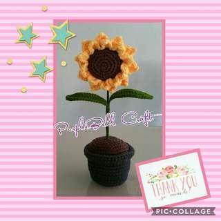 Crochet Sunflower With Pot