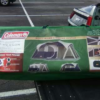 Coleman 6person Tent W Built In Lights