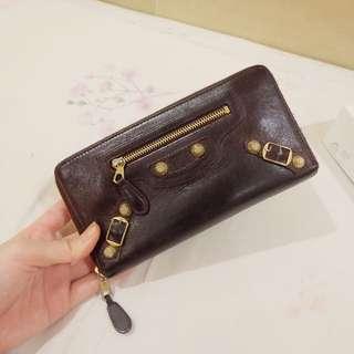 Balenciaga City GHW Zipper Wallet
