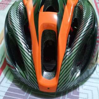 Helmet and powerbeam light for bicycle accessories