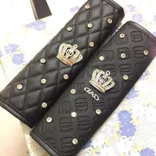 D.A.D Safety Belt Cover / Seat Belt Cover with Crown & Diamond Studs