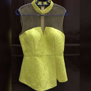 Yellow cheongsam top