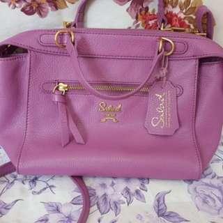 Salad 粉紫兩用手袋