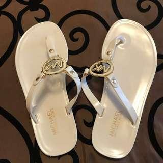 Michael Kors Flip Flops - Vanilla Colour