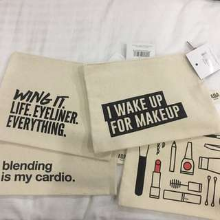 Make Up Pouches With Statements