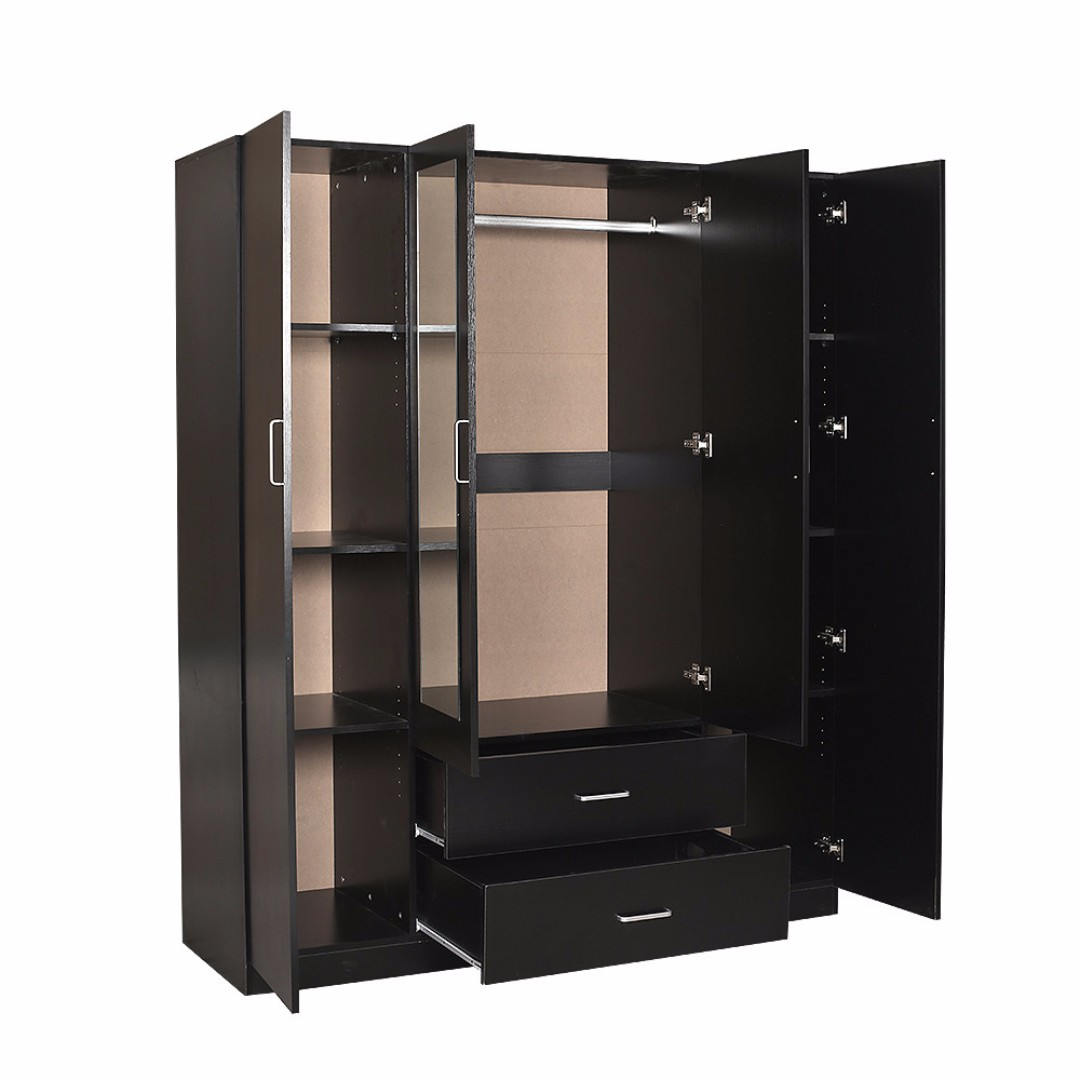 4 Doors 2 Drawers Wardrobe With Mirror In Discount NOW