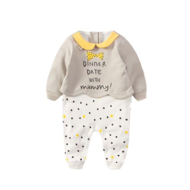 可愛假兩件寶寶連身衣(現貨)